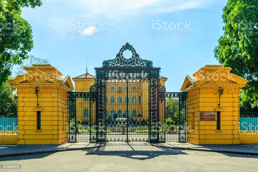 President building at Hanoi stock photo
