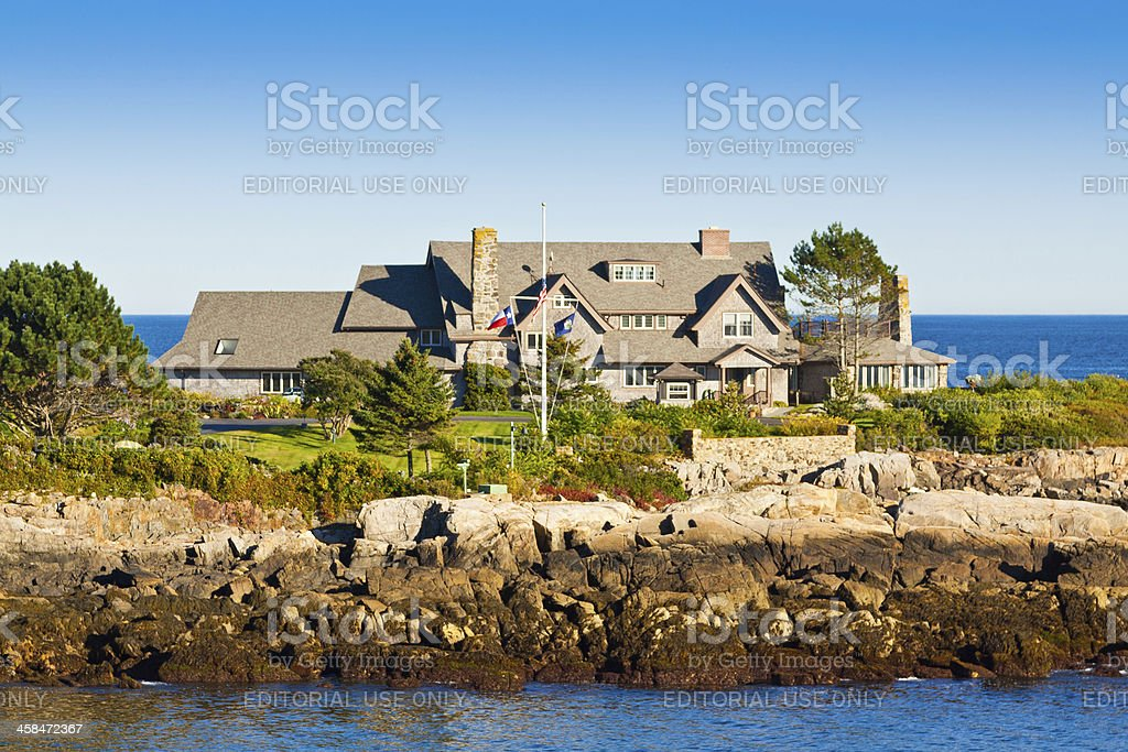 President Bush compound, Kennebunkport, Maine. stock photo