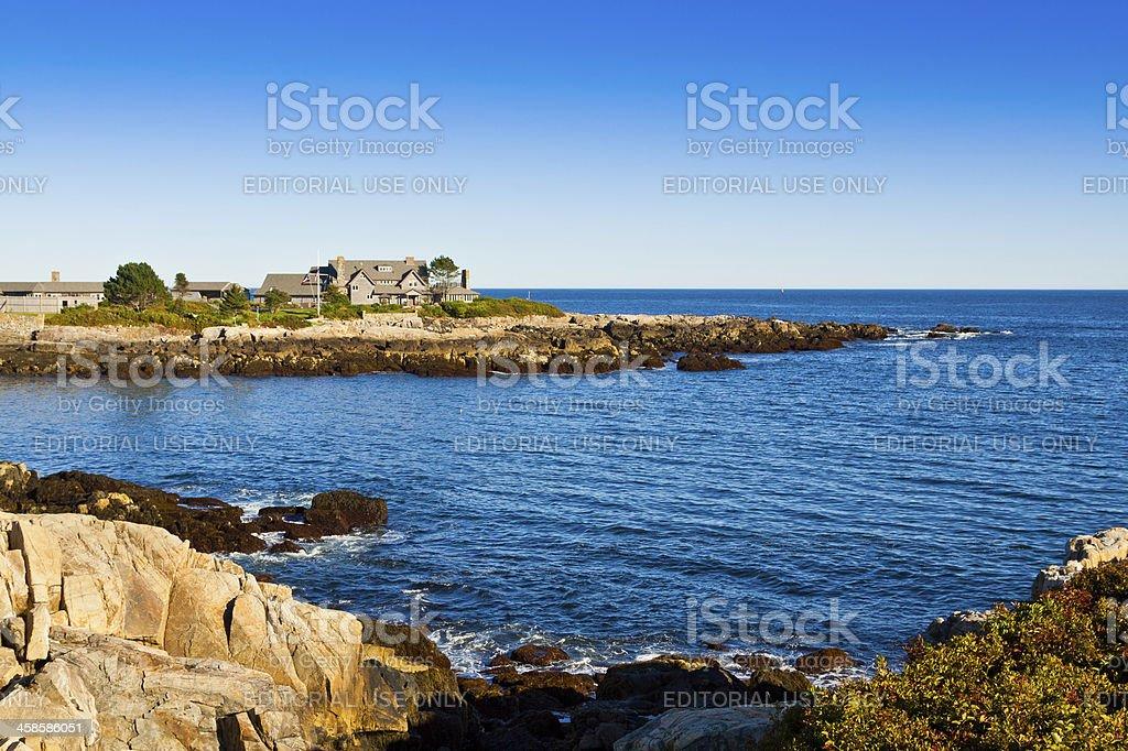 President Bush compound, Kennebunkport, Maine. royalty-free stock photo