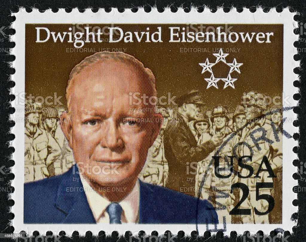 President Dwight D Eisenhower Stamp Royalty Free Stock Photo