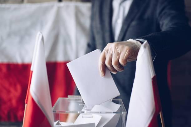 President election in Poland during coronavirus covid-19 pandemic stock photo
