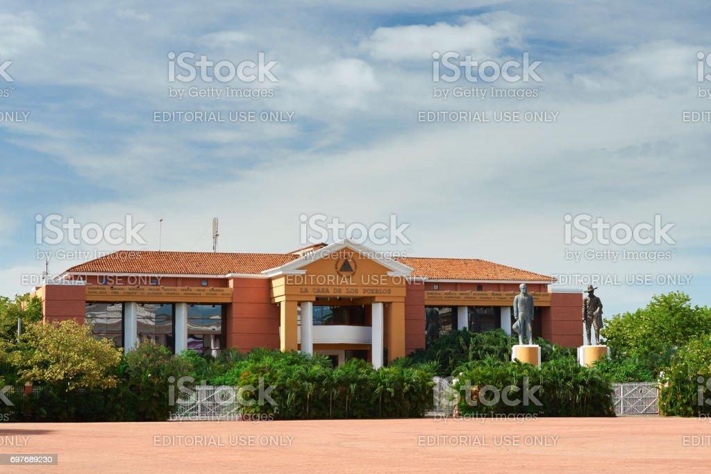 President house in Managua stock photo