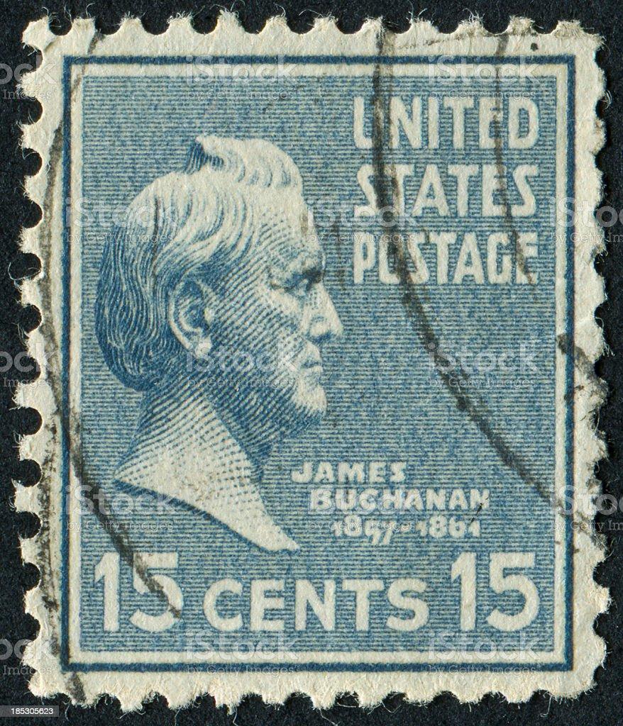 President James Buchanan stock photo