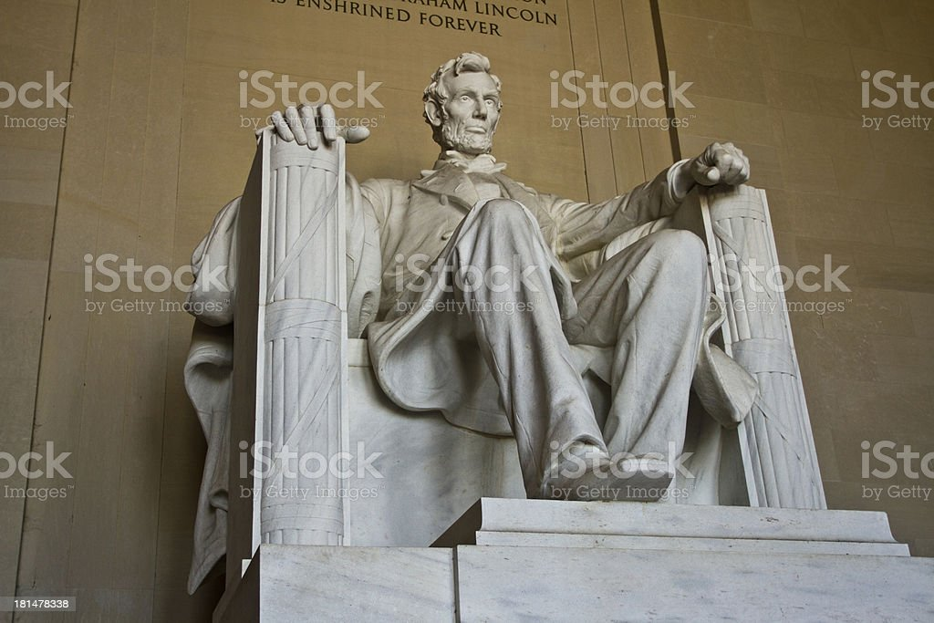 President Lincoln Memorial in Washington DC royalty-free stock photo