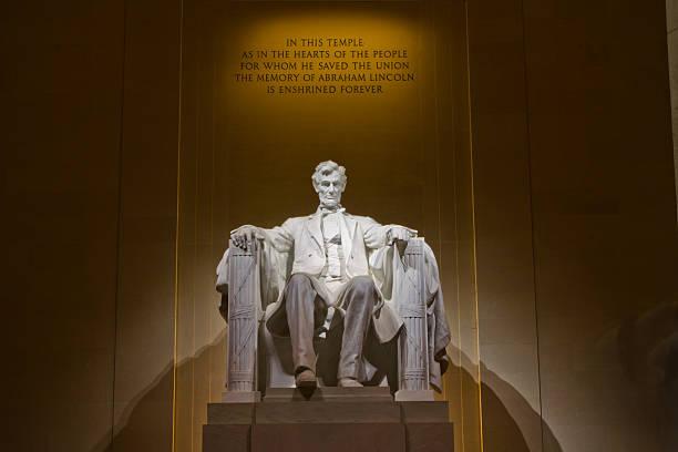 präsident lincoln memorial in washington, dc - lincoln united stock-fotos und bilder