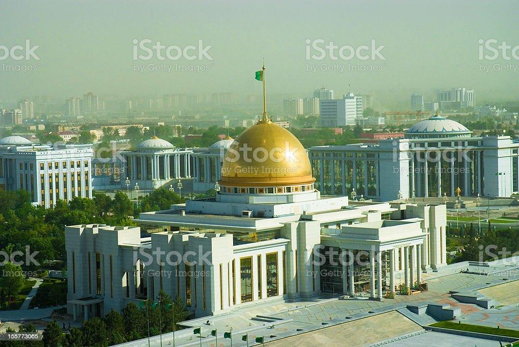 President palace in Ashgabat Turkmenistan stock photo