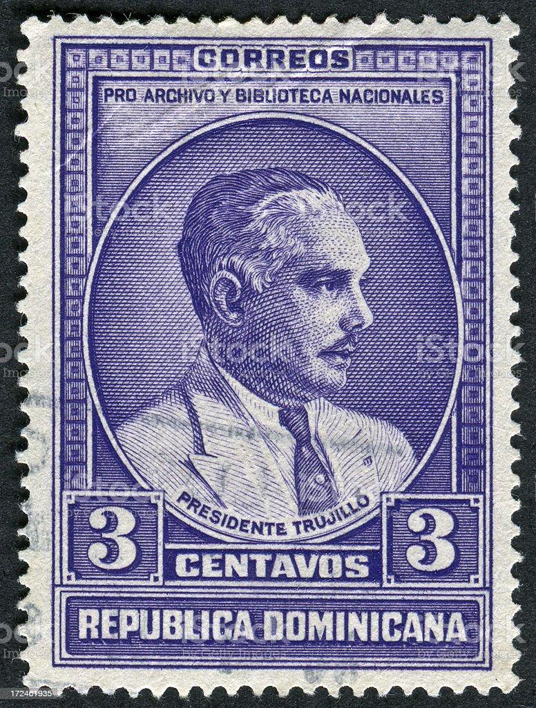 President Trujillo Stamp royalty-free stock photo