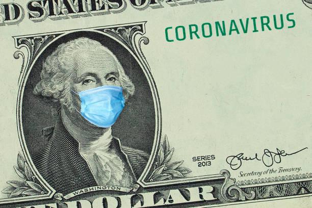 US-Präsident Washington in medizinischer Maske, Mockup – Foto