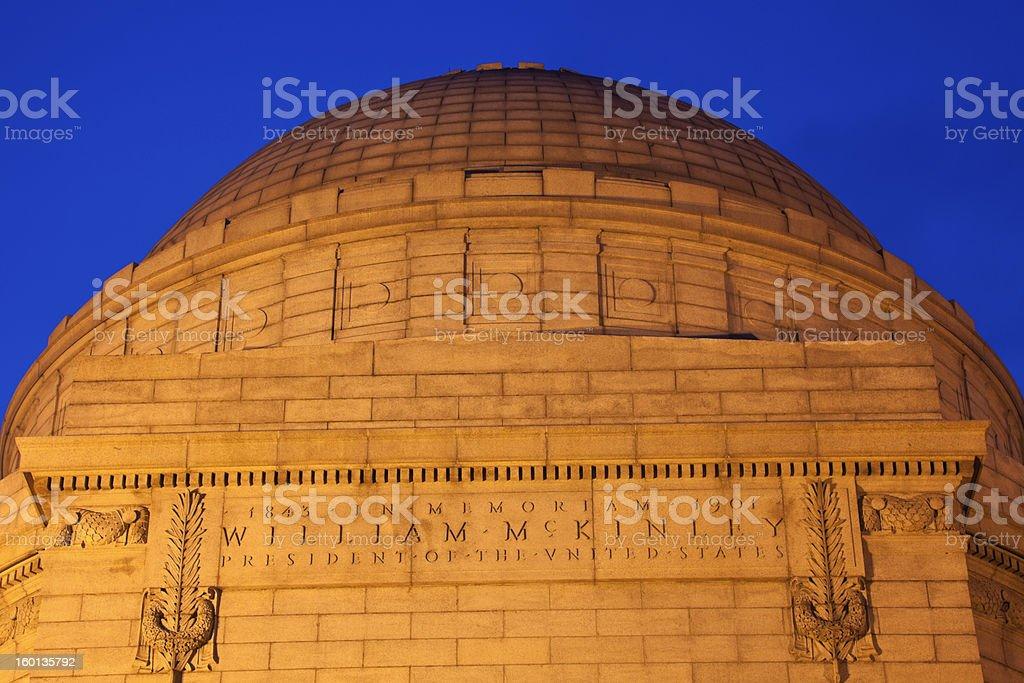 President William McKinley National Memorial stock photo