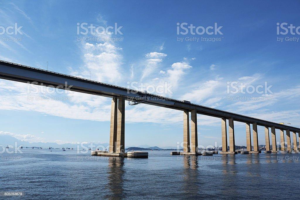 Presidente Costa e Silva Bridge stock photo