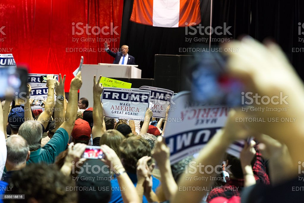 Presidential candidate 2016 Donald Trump stock photo