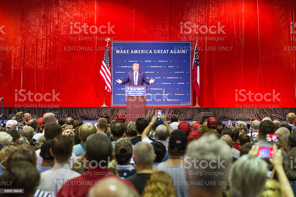 Presidential Candidate for 2016 Elections Donald Trump stock photo