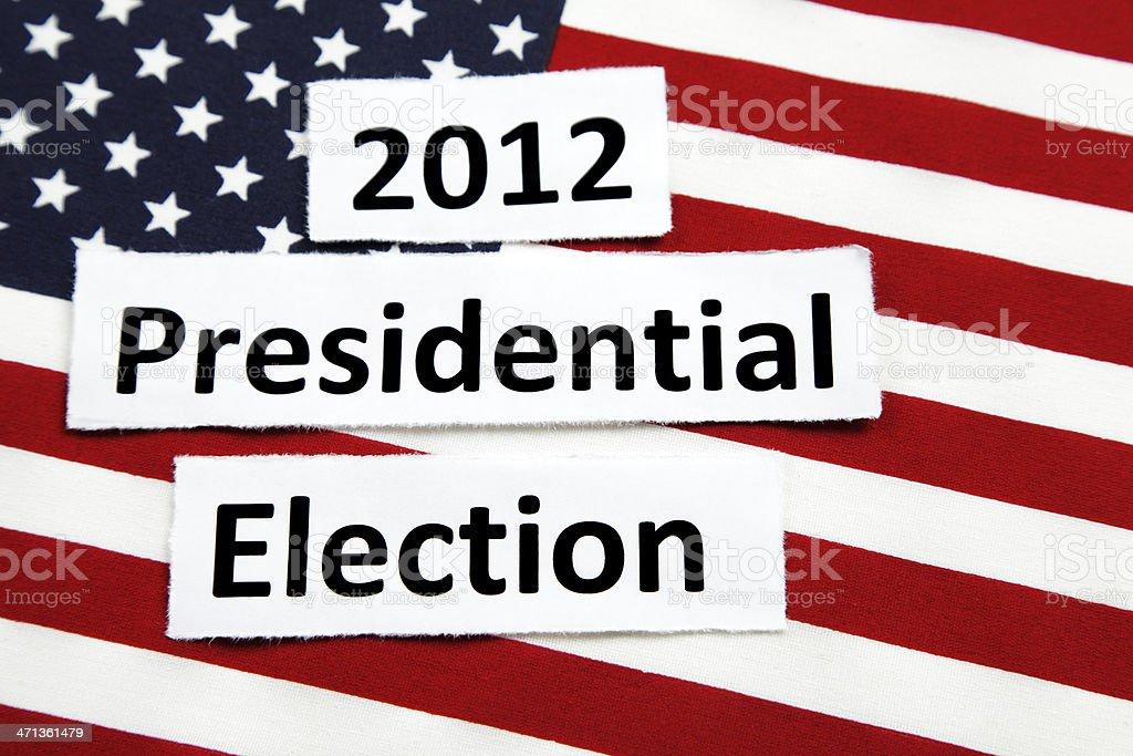 Presidential Election 2012 stock photo