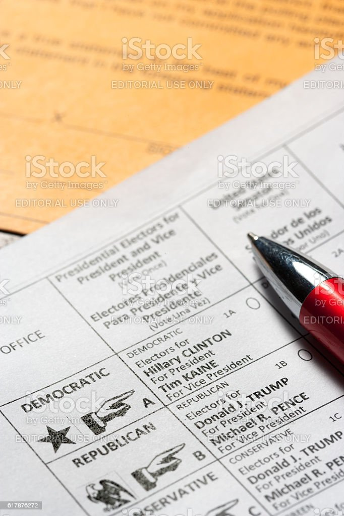 US Presidential election 2016 stock photo