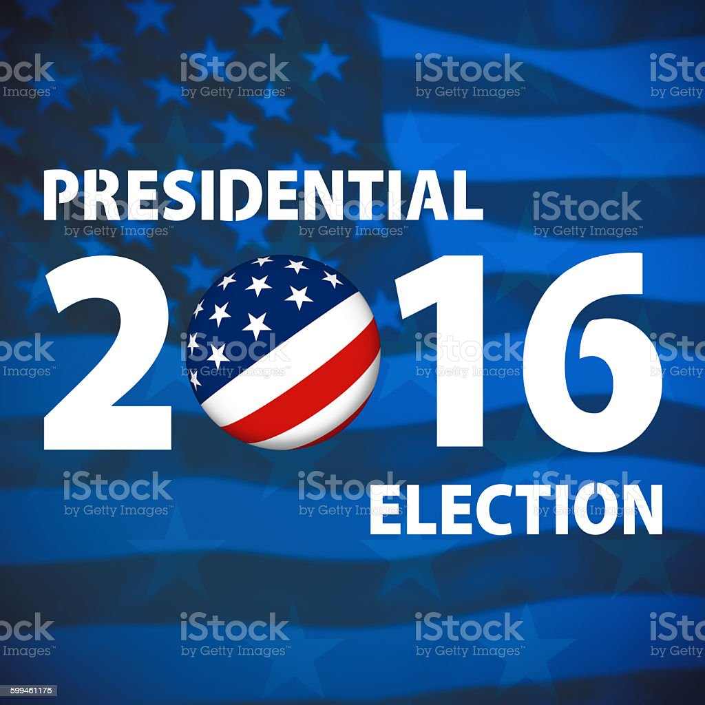 USA presidential election background stock photo
