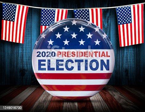 presidential election button