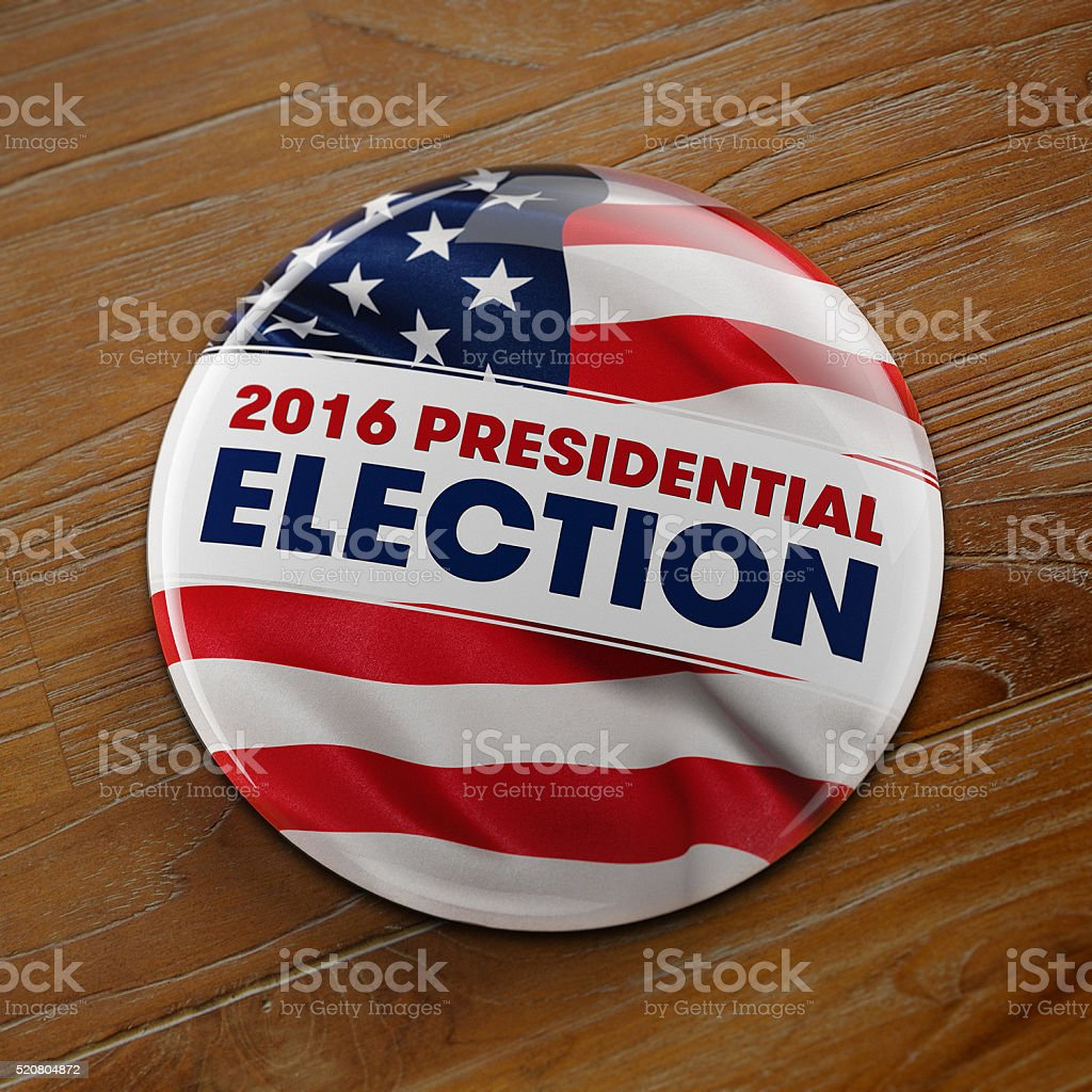 US 2016 Presidential Election Button stock photo