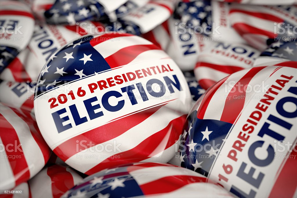 Presidential Election Buttons stock photo