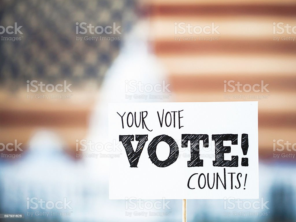USA Presidential Election Date: Your Vote Counts stock photo