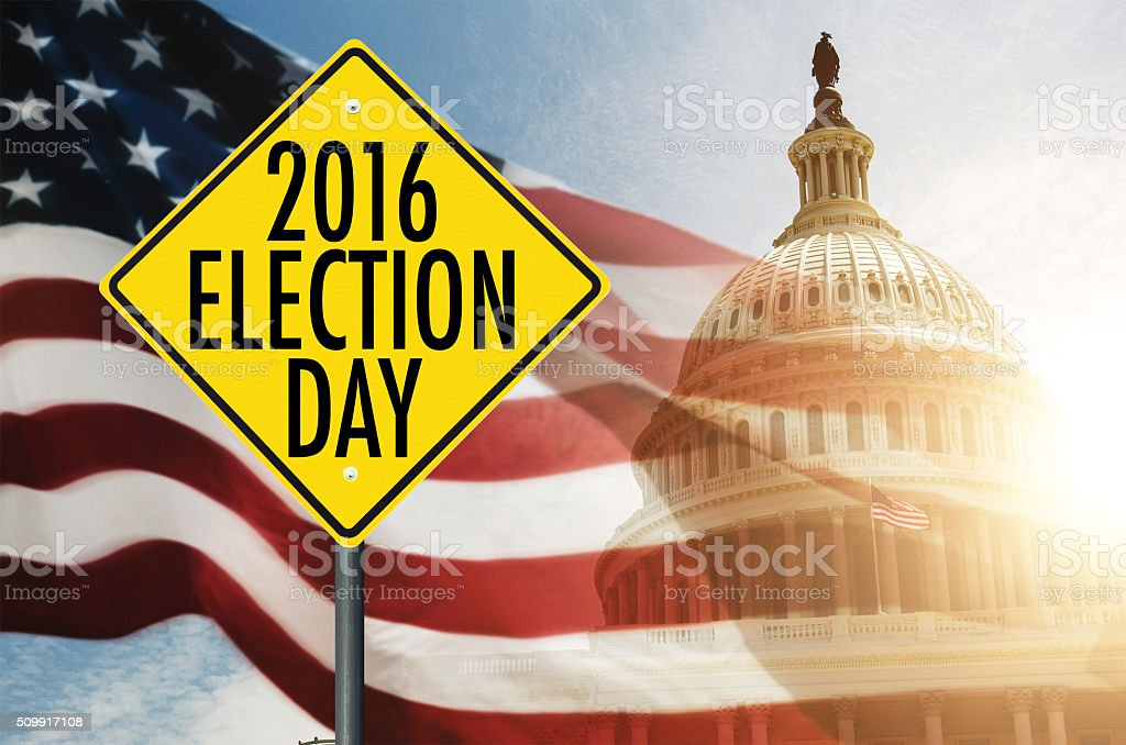 presidential election day stock photo