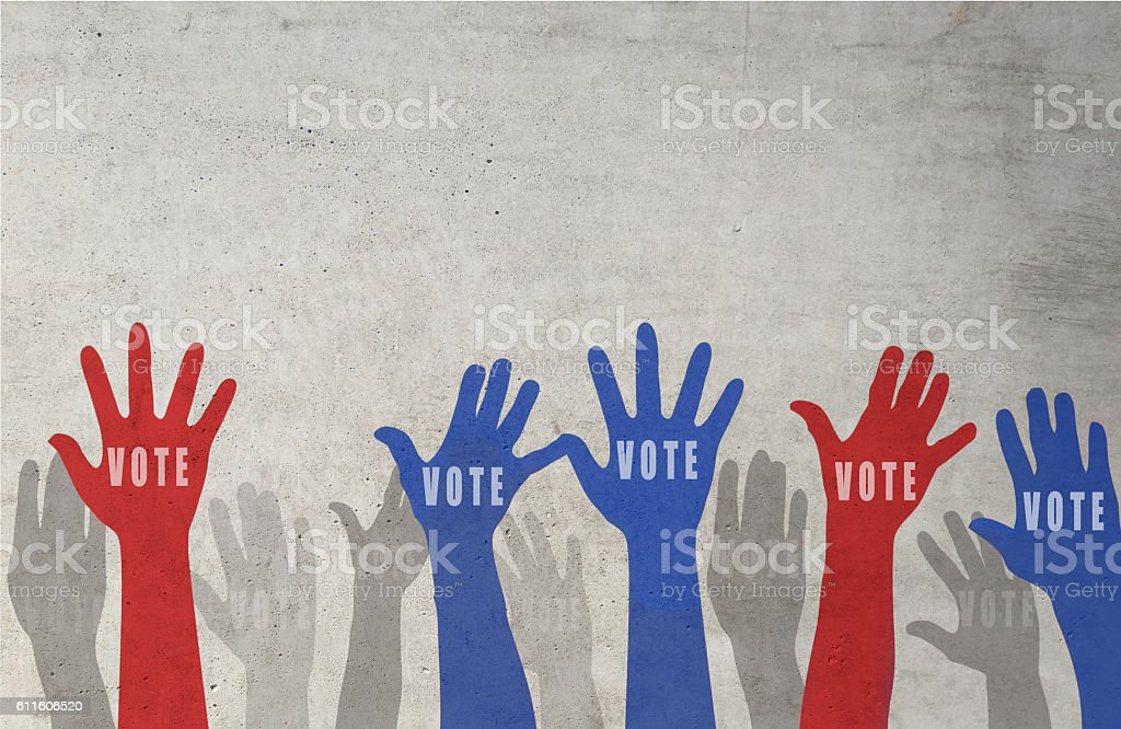 USA presidential election day voting concept stock photo