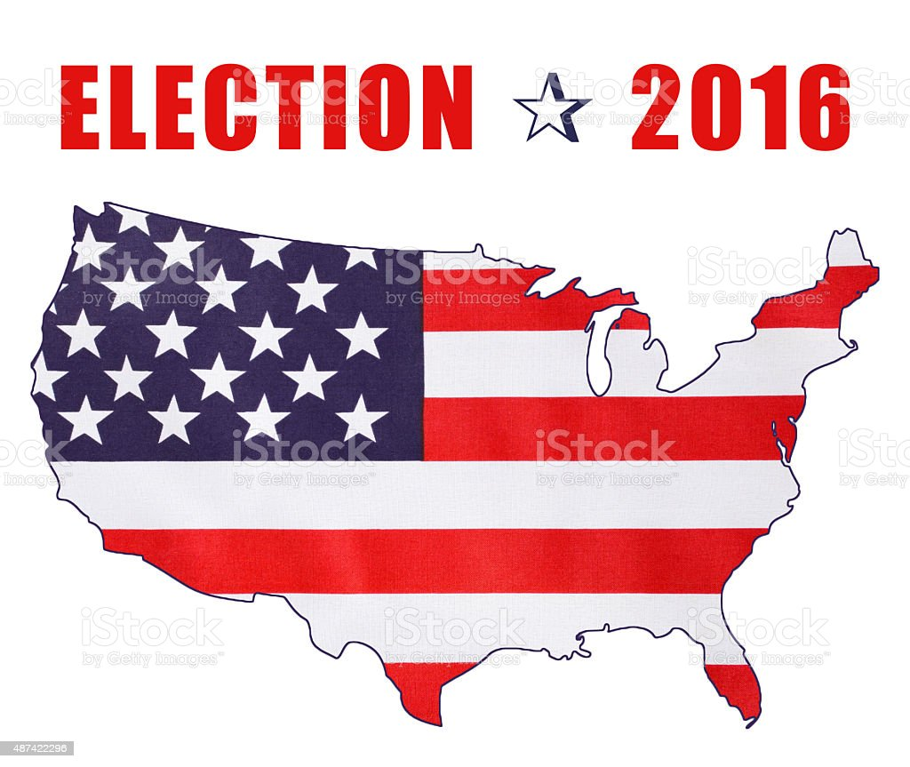 USA 2016 Presidential Election Flag stock photo