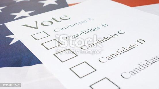 1001757106 istock photo Presidential elections ballot concept 1220421522