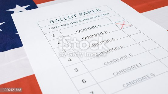1001757106 istock photo Presidential elections ballot concept 1220421548