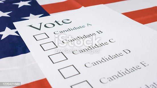 1001757106 istock photo Presidential elections ballot concept 1220421560