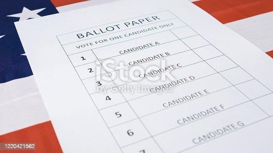 1001757106 istock photo Presidential elections ballot concept 1220421562