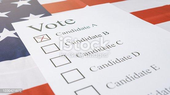 1001757106 istock photo Presidential elections ballot concept 1220421572