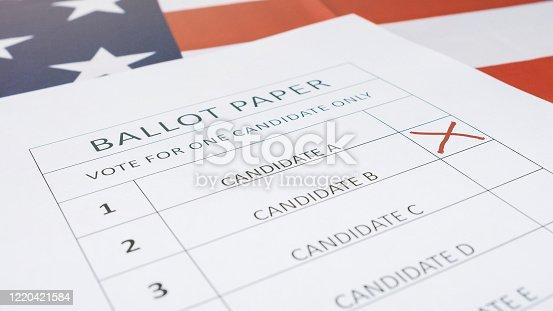 1001757106 istock photo Presidential elections ballot concept 1220421584