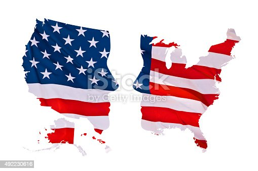 1157022917 istock photo 2016 US presidential elections map concept isolated on white background 492230616