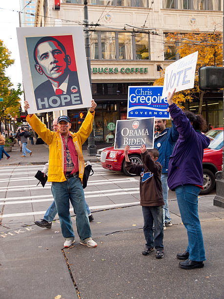 2008 presidential elections - obama supporters - biden 個照片及圖片檔
