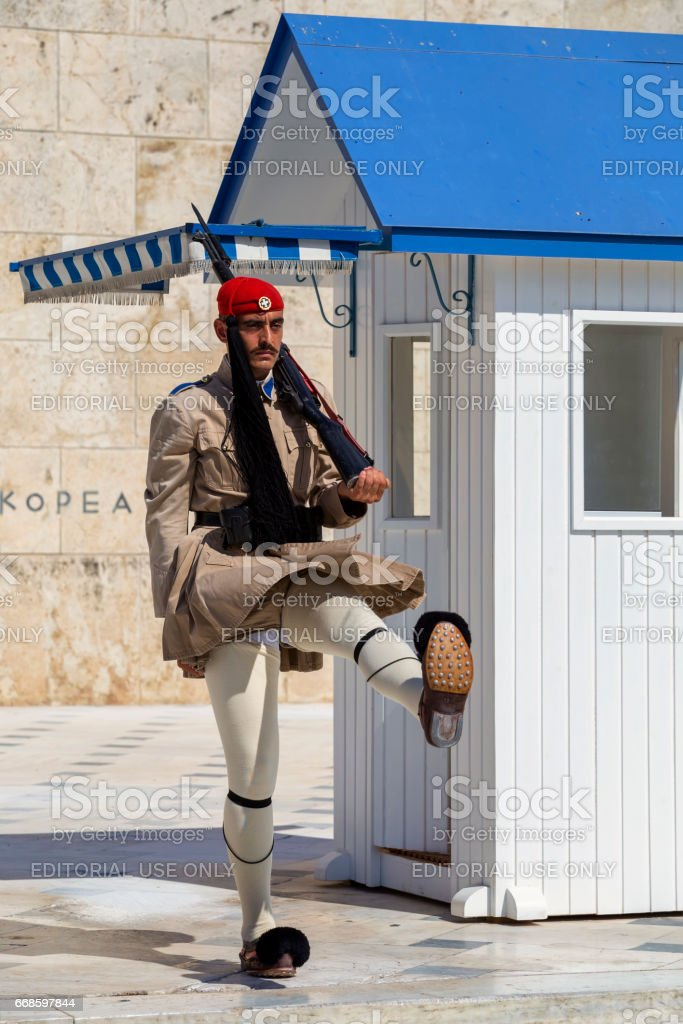 Presidential evzone honor guard stock photo