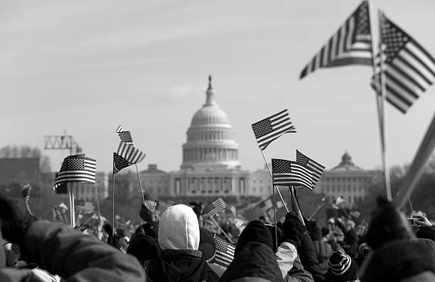 presidential inauguration at the capitol building, washington dc - inauguration stok fotoğraflar ve resimler