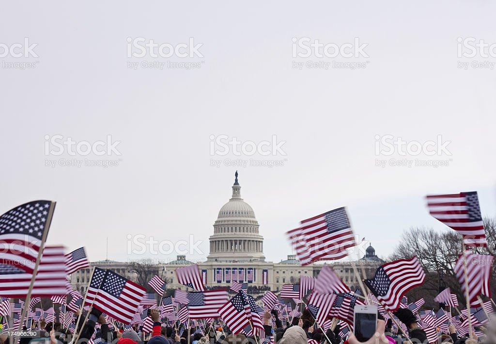 Presidential inauguration in Washington Mall, 2013 royalty-free stock photo
