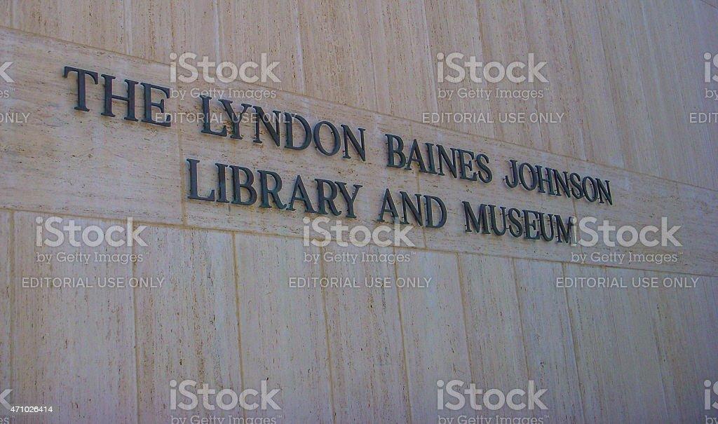 LBJ Presidential Library - Austin, Texas stock photo