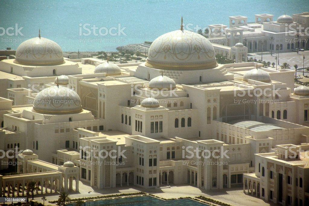 UAE Presidential Palace, Abu Dhabi, UAE stock photo