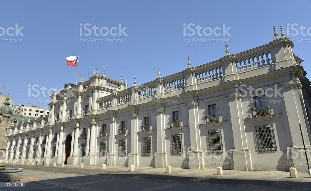 Presidential Palace, Chile stock photo