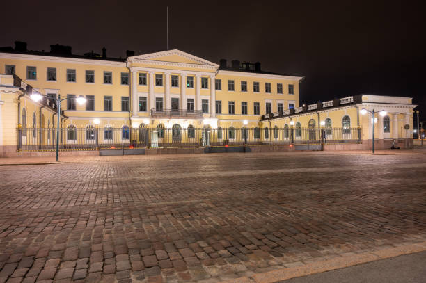 Presidential Palace: Finnish president stock photo