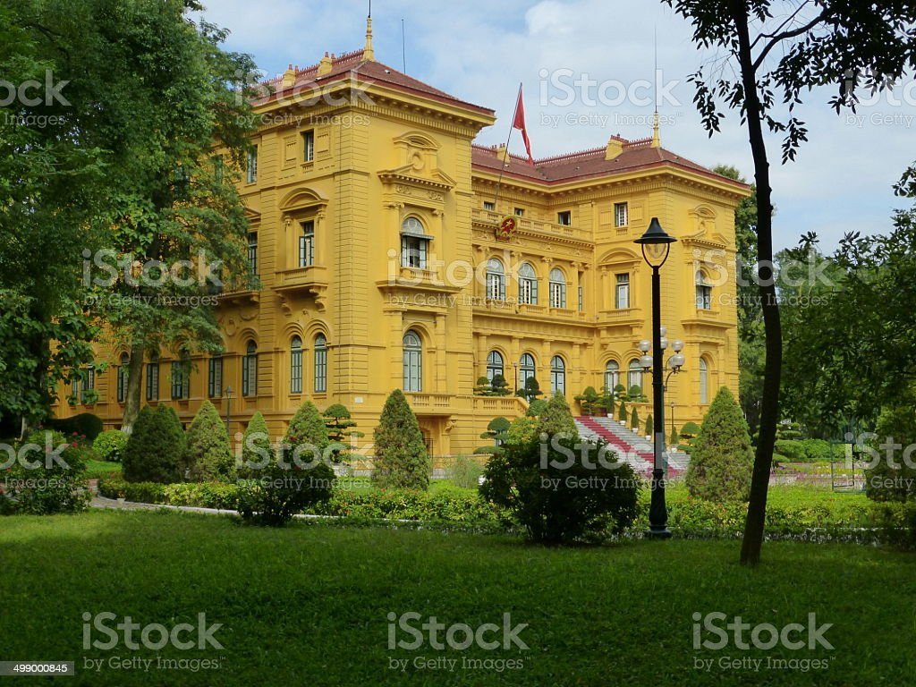 Presidential Palace Hanoi stock photo