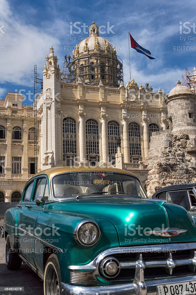 Presidential Palace in Havana, Cuba stock photo