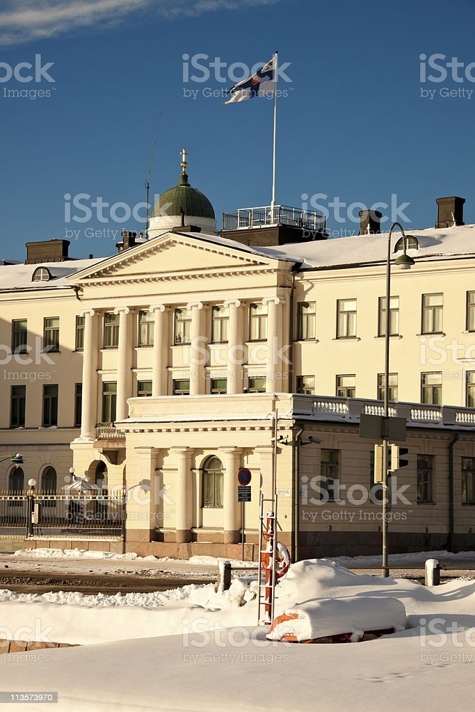 Presidential Palace in Helsinki stock photo
