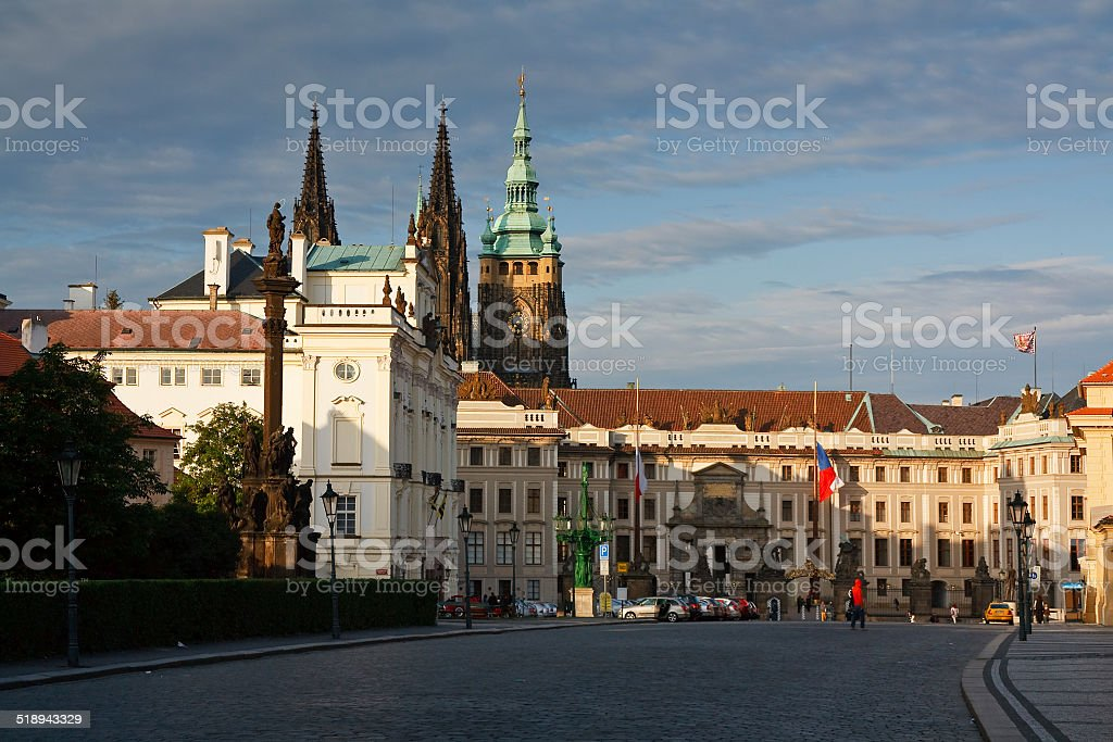 Presidential palace in Prague. stock photo