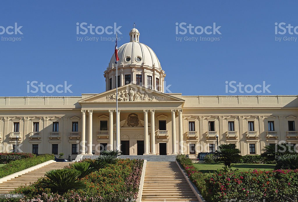 Presidential Palace in Santo Domingo royalty-free stock photo