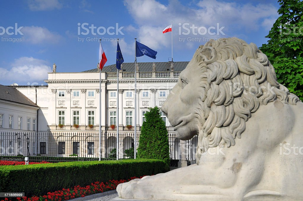 Presidential Palace in Warsaw stock photo