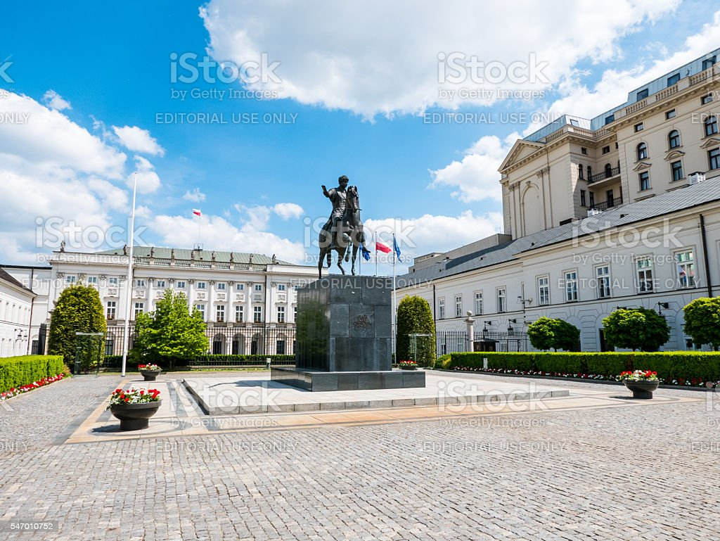 Presidential Palace in Warsaw, Poland stock photo