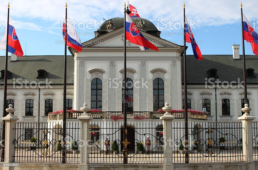 Presidential Palace of Slovakia, Bratislava royalty-free stock photo