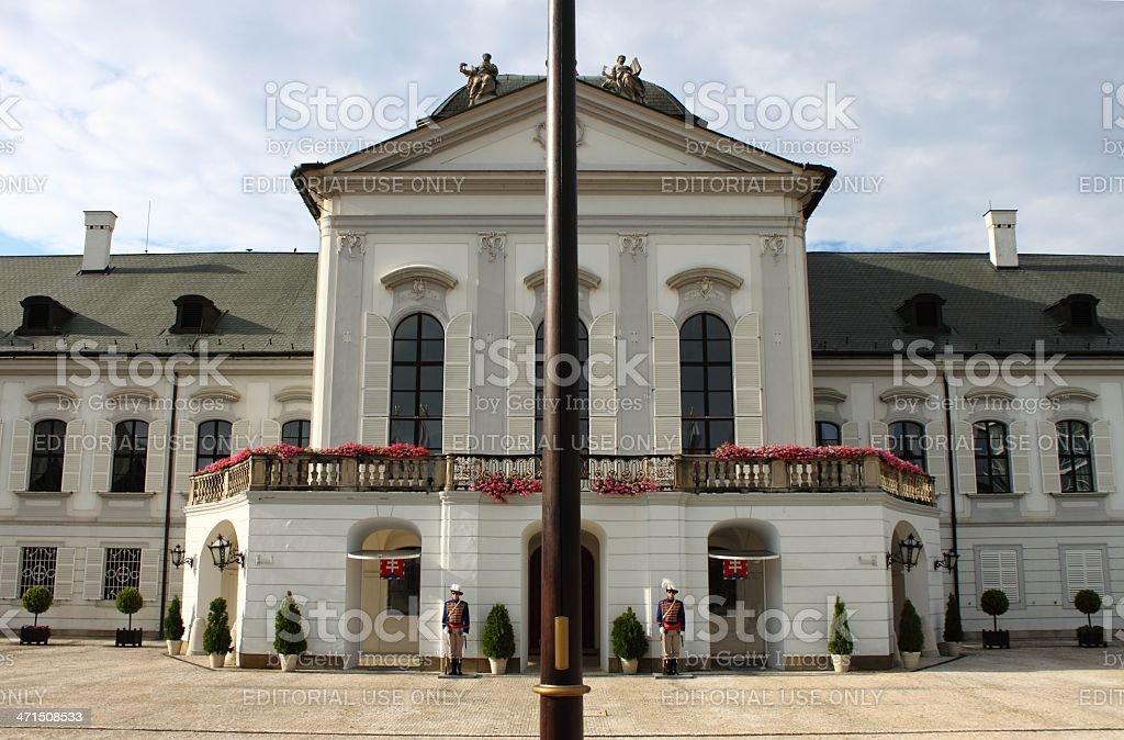 Presidential Palace of Slovakia, Bratislava stock photo